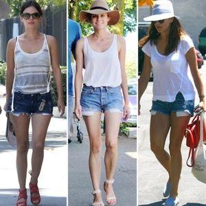 Current/Elliott HR jean shorts exposed pockets 27